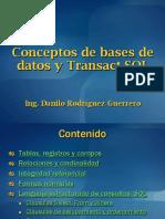 SQL Server 2008 - Sesión #1a - Conceptos de BD y Transact-SQL