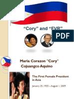 Corazon Aquino and Fidel Ramos