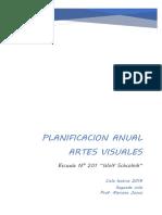 Planificacion Anual plastica 2019