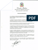 Mensaje del presidente Danilo Medina con motivo del Día de los Ayuntamientos 2019