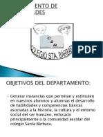 Presentación Departamento de Humanidades 2011