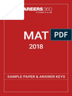 MAT 2018 Sample Paper