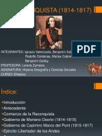La Reconquista (1814-1817)