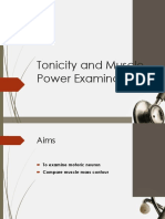 Tonus and Muscle Power Examination