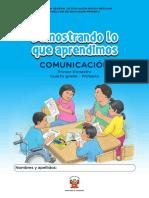 Kit de Evaluación Entrada 1 Demostrando Lo Que Aprendimos Comunicación, Primer Trimestre, _Cuarto Grado - Primaria