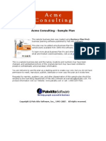 Consulting Services Business Plan