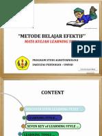 Metode Belajar Efektif