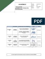 ACAD-P-23 Titulación en Los Programas de Formación Profesional