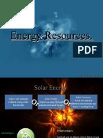 Energy Resources - Rachel Ecclestone