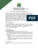 Edital Seleção Espanhol UFCG
