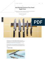 5 Essential Kitchen Knives You Need Right Now