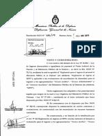 Convocatoria para el Ministerio de Público de Nación