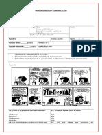 5° básico Prueba comic, sujeto y predicado.doc