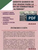 Reciclamiento Quimico de Las Llantas Usadas Para La Obtencion de Combustibles Alternos