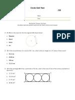 circle unit test