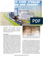 Improved Dome Storage Systems for Cement