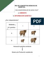 RECORDATORIO DE CONCEPTOS BÁSICOS DE GENÉTICA