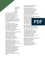 Songs Lyric for Listening
