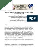 PROJETOS DESENVOLVIMENTISTAS E DISPUTAS TERRITORIAIS NA AMÉRICA LATINA