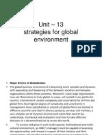 Strategies for Global Environment