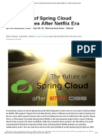 The Future of Spring Cloud Microservices After Netflix Era - DZone Microservices