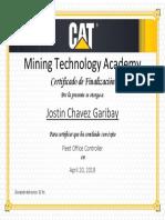 Jostin Chavez Garibay - Ferreyros - Fleet Controller 4.4 - (04-2019) - Completion Certificate