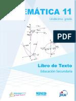 Matemática 11º Grado LTES-NICA- Mined, Unan-Managua, Unan-León - Jica 1ra. Ed. 2019