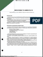 ASME B16.10 Interpretations