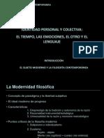 Introducción-sujeto Moderno y Filosofía Contemporánea