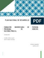 Plan Nacional de Desarrollo - Hacienda Publica (Colombia)