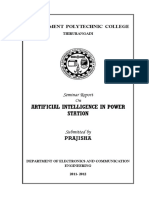 101434900 Seminar Report Artificial Intelligence in Power Station