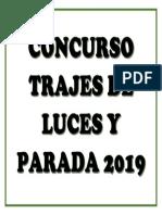 Concurso Trajes de Luces y Parada 2019