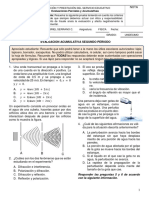EVALUACION ACUMULATIVA - Fenómenos Ondulatorios - Acústica