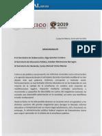 Memorandum AMLO 2019