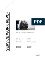 Service Work Report Replacement Auxiliary Engine and Cleaning Generator