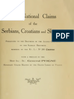 The National Claims of the Serbians, Croatians and Slovenes ; Presented to the Brothers of the Allied Countries by the Serbian Brothers membres of the R. L. 288 Cosmos (1919.)