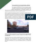 Evaluación de La Evolución de Los Contaminantes Urbanos