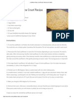 cauliflower pizza crust recipe  delicious   healthy