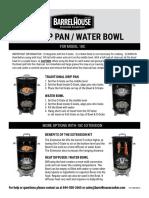 Drip Water Pan Bowl Instructions