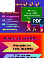 book report power point library skills