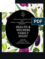 Health & Wellness Night Flyer