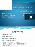 Consumer Behaviour at Edelweiss Ppt