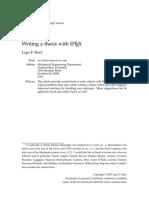 Writing Thesis Using Latex