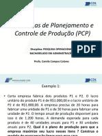 Aula 03 - PO - Problemas de PCP