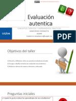 Taller Evaluacion Aprendizajes 2018