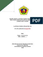 Template laporan kp umk