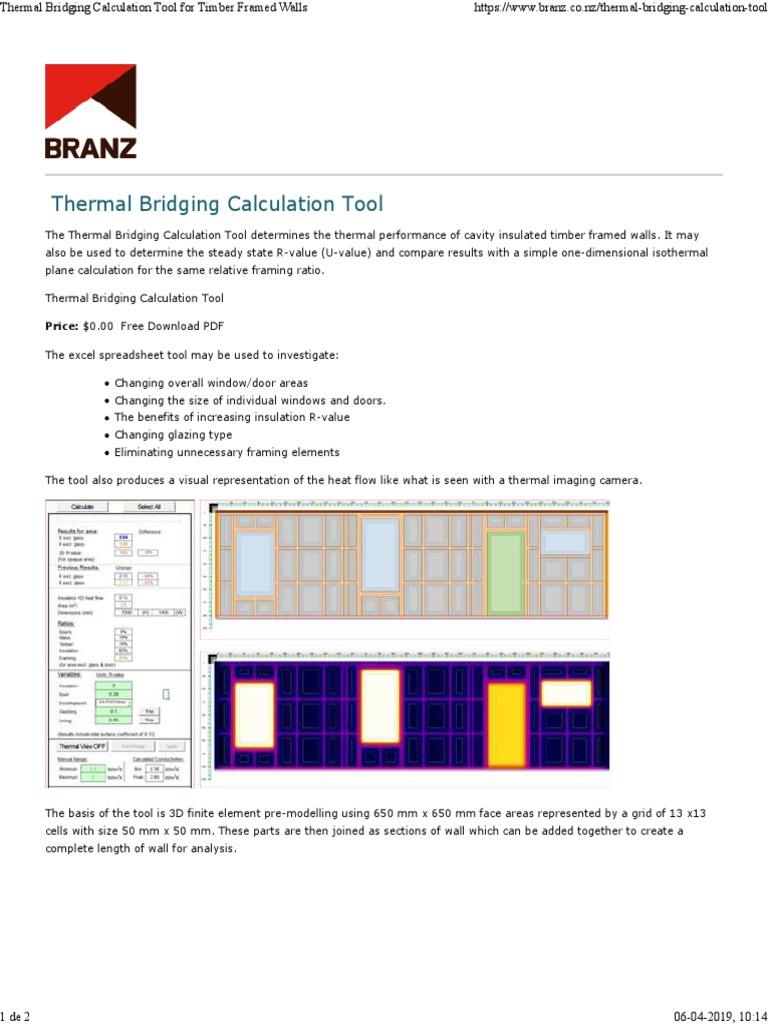 Thermal Bridging Calculation Tool: Price