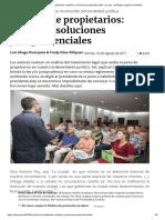 La junta de propietarios_ acefalía y soluciones jurisprudenciales _ La Ley - El Ángulo Legal de la Noticia.pdf