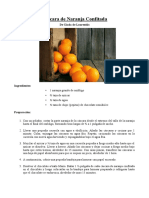 Cáscara de Naranja Confitada