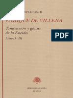 Enrique de Villena, Traducción y glosas de la Eneida, Libros I-III